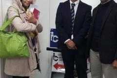 Yoshi san, Futagawa sensei dan Terang san di Sekolah Bahasa IC Nagoya.